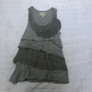Anthropologie Deletta tiered ruffle tank top